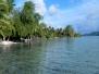 En conoe dans le lagon de Tahaa